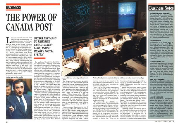 Article Preview: THE POWER OF CANADA POST, October 1989 | Maclean's