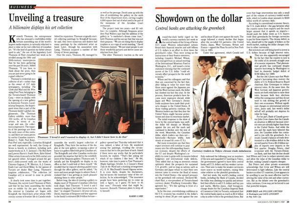 Article Preview: Showdown on the dollar, October 1989 | Maclean's