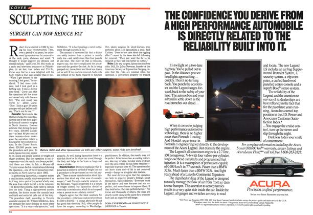 Article Preview: SCULPTING THE BODY, October 1989 | Maclean's