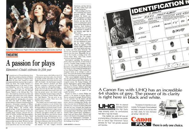 Article Preview: A passion for plays, October 1989 | Maclean's