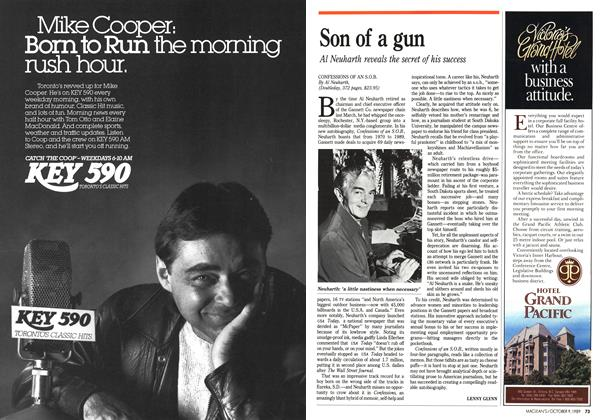 Article Preview: Son of a gun, October 1989 | Maclean's