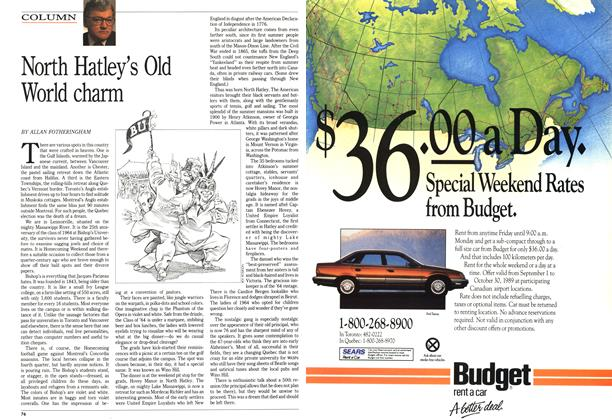 Article Preview: North Hatley's Old World charm, October 1989 | Maclean's