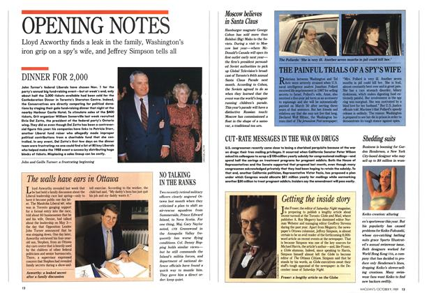 Article Preview: OPENING NOTES, October 1989 | Maclean's
