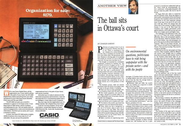 Article Preview: The ball sits in Ottawa's court, October 1989 | Maclean's