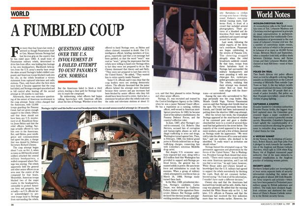 Article Preview: A FUMBLED COUP, October 1989 | Maclean's
