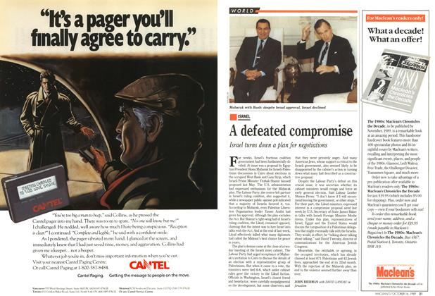 Article Preview: A defeated compromise, October 1989   Maclean's