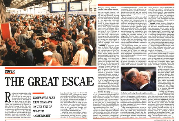 Article Preview: THE GREAT ESCAPE, October 1989 | Maclean's