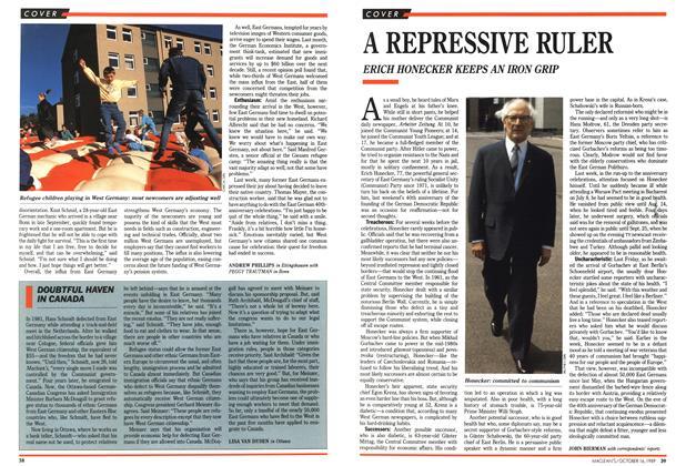 Article Preview: A REPRESSIVE RULER, October 1989 | Maclean's
