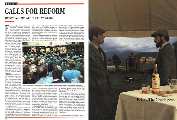 Article Preview: CALLS FOR REFORM, October 1989 | Maclean's