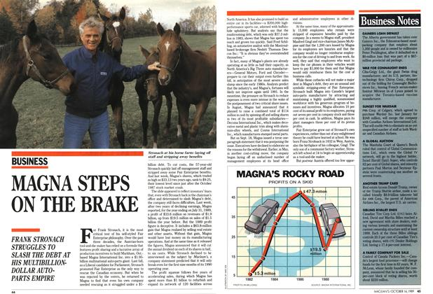 Article Preview: MAGNA STEPS ON THE BRAKE, October 1989 | Maclean's