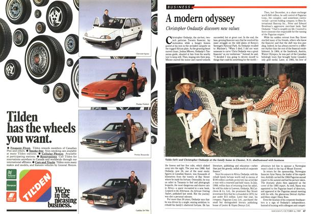 Article Preview: A modern odyssey, October 1989 | Maclean's