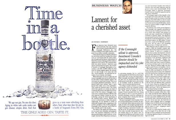 Article Preview: Lament for a cherished asset, October 1989 | Maclean's