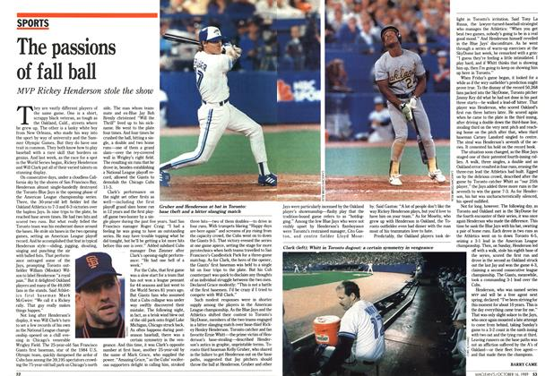 Article Preview: The passions of fall ball, October 1989 | Maclean's