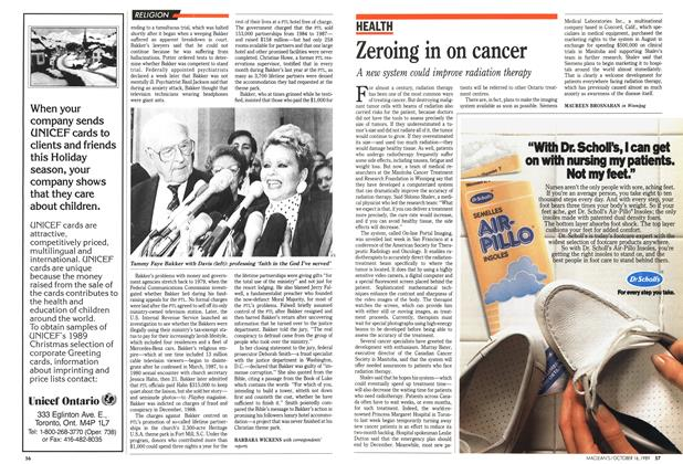 Article Preview: Zeroing in on cancer, October 1989 | Maclean's