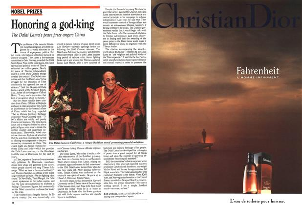 Article Preview: Honoring a god-king, October 1989 | Maclean's