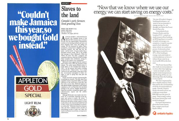 Article Preview: Slaves to the land, October 1989 | Maclean's