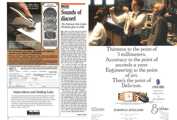 Article Preview: Sounds of discord, October 1989   Maclean's