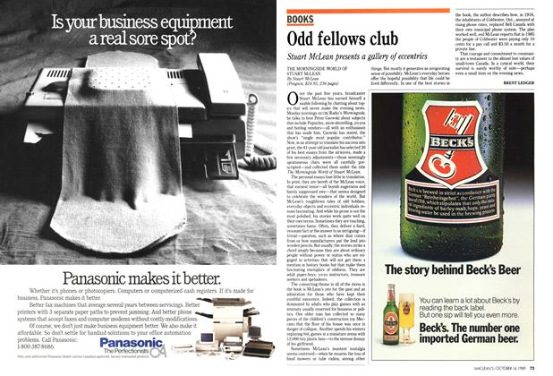 Article Preview: Odd fellows club, October 1989 | Maclean's
