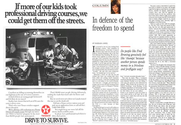 Article Preview: In defence of the freedom to spend, October 1989 | Maclean's