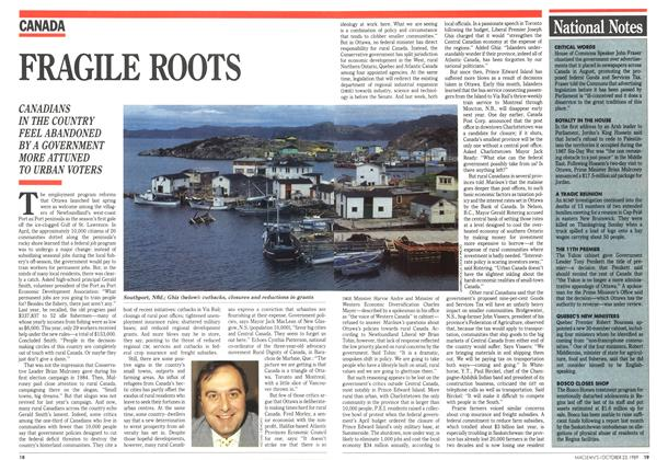 Article Preview: FRAGILE ROOTS, October 1989 | Maclean's