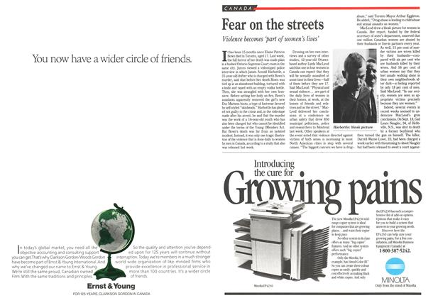 Article Preview: Fear on the streets, October 1989 | Maclean's