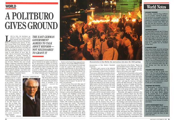 Article Preview: A POLITBURO GIVES GROUND, October 1989 | Maclean's