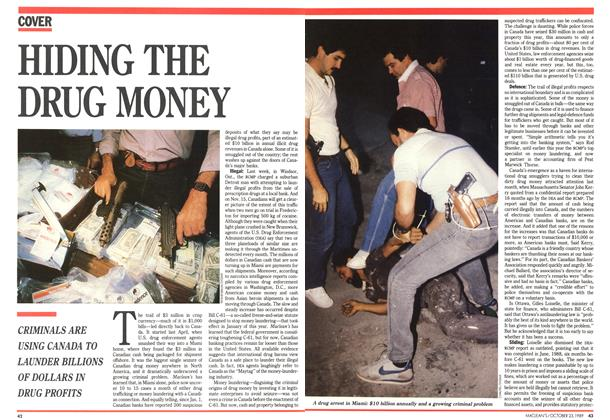 Article Preview: HIDING THE DRUG MONEY, October 1989 | Maclean's