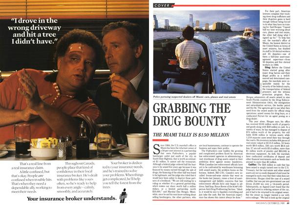 Article Preview: GRABBING THE DRUG BOUNTY, October 1989 | Maclean's