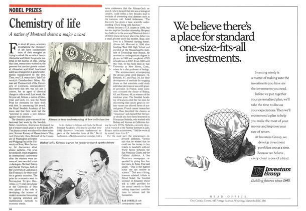 Article Preview: Chemistry of life, October 1989   Maclean's