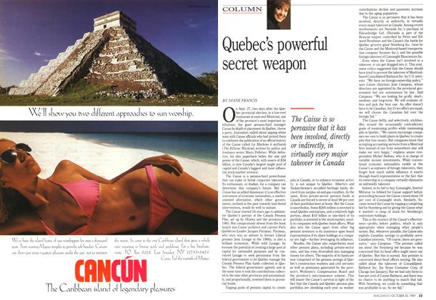 Article Preview: Quebec's powerful secret weapon, October 1989 | Maclean's