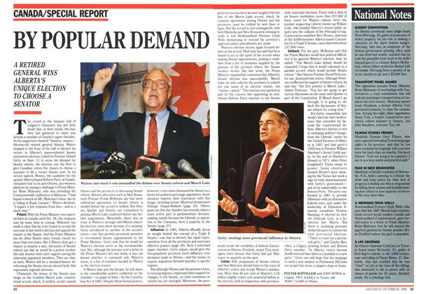 Article Preview: BY POPULAR DEMAND, October 1989 | Maclean's