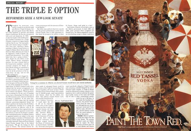 Article Preview: THE TRIPLE E OPTION, October 1989 | Maclean's