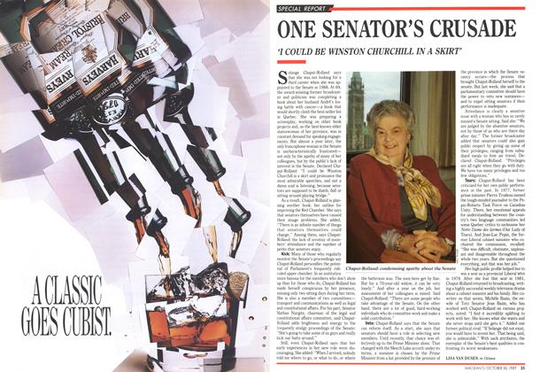 Article Preview: ONE SENATOR'S CRUSADE, October 1989 | Maclean's