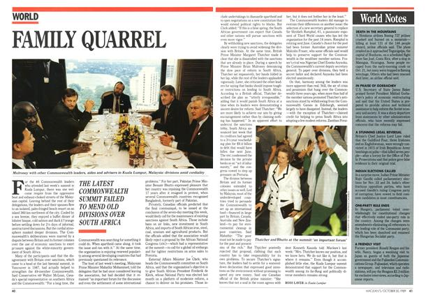 Article Preview: FAMILY QUARREL, October 1989 | Maclean's