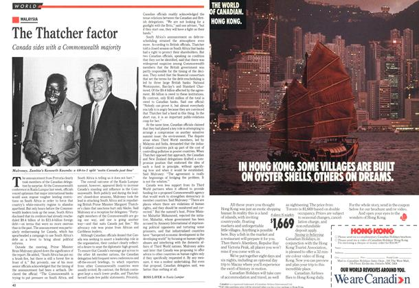 Article Preview: The Thatcher factor, October 1989 | Maclean's