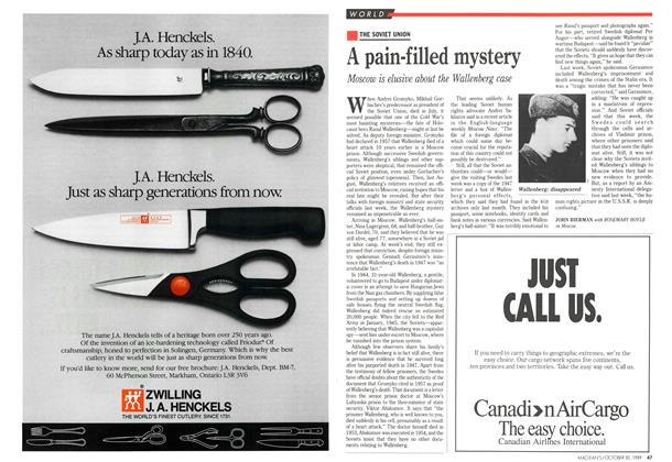 Article Preview: A pain-filled mystery, October 1989 | Maclean's