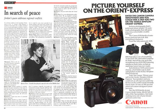 Article Preview: In search of peace, October 1989 | Maclean's