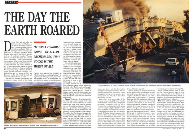 Article Preview: THE DAY THE EARTH ROARED, October 1989 | Maclean's