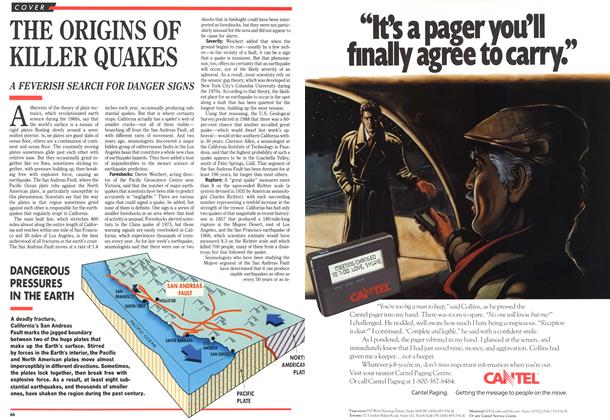 Article Preview: THE ORIGINS OF KILLER QUAKES, October 1989 | Maclean's