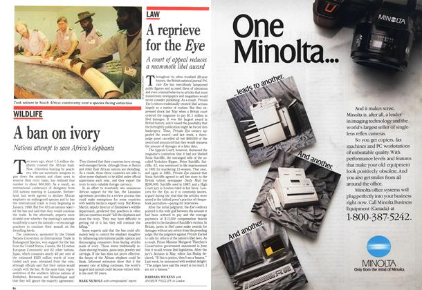 Article Preview: A reprieve for the Eye, October 1989 | Maclean's