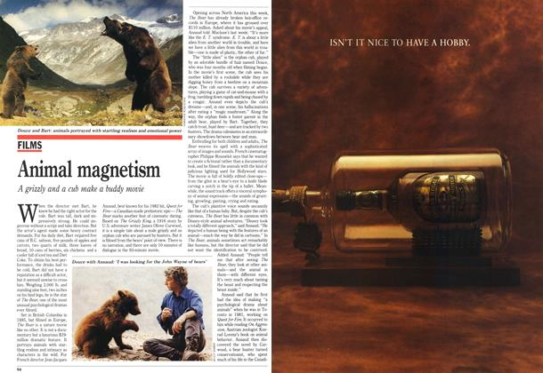 Article Preview: Animal magnetism, October 1989 | Maclean's