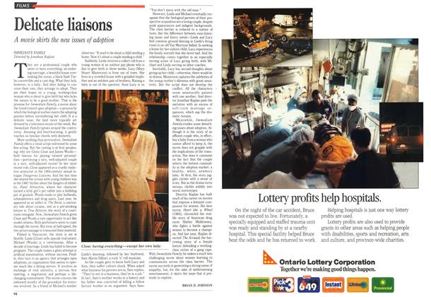 Article Preview: Delicate liaisons, October 1989 | Maclean's