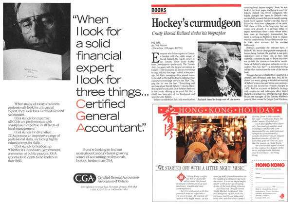 Article Preview: Hockey's curmudgeon, October 1989 | Maclean's