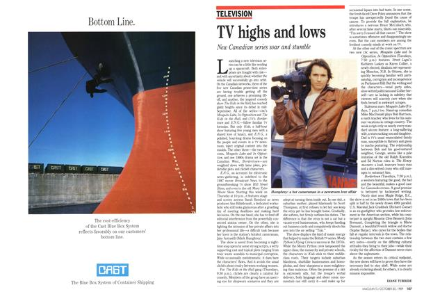 Article Preview: TV highs and lows, October 1989 | Maclean's