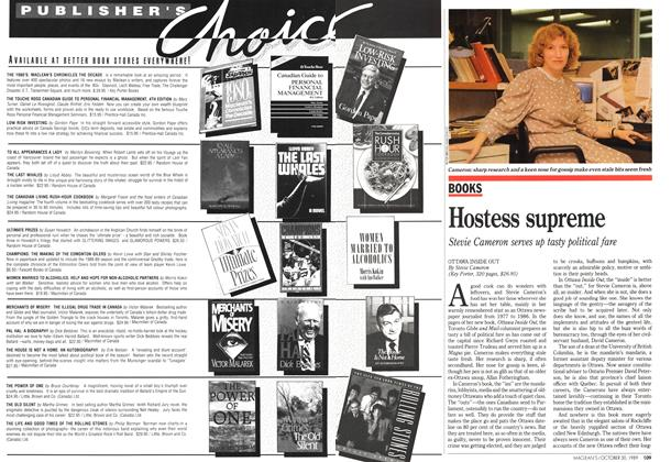 Article Preview: Hostess supreme, October 1989 | Maclean's