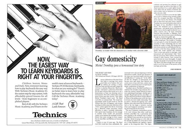 Article Preview: Gay domesticity, October 1989 | Maclean's