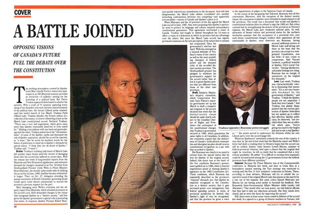 Article Preview: A BATTLE JOINED, November 1989 | Maclean's