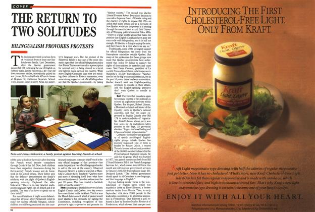 Article Preview: THE RETURN TO TWO SOLITUDES, November 1989 | Maclean's