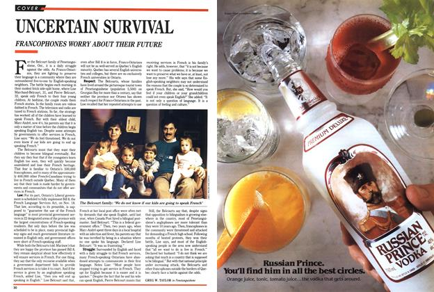 Article Preview: UNCERTAIN SURVIVAL, November 1989 | Maclean's