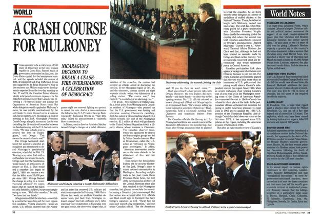Article Preview: A CRASH COURSE FOR MULRONEY, November 1989 | Maclean's